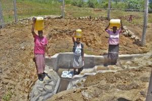 The Water Project: Shianda Commnity, Mukeya Spring -  Women Pose At The Spring