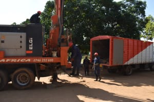 The Water Project: Ibokolo Primary School -  Assembling Tools For Drilling