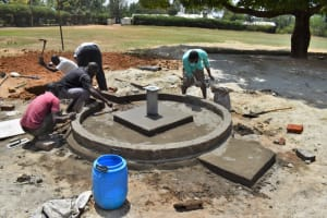 The Water Project: Ibokolo Primary School -  Plaster Work