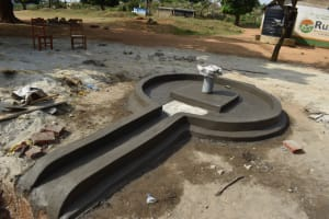 The Water Project: Ibokolo Primary School -  Well Pad Drying
