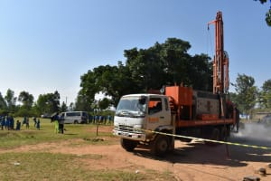 The Water Project: Ibokolo Primary School -  Rig Machine Drilling