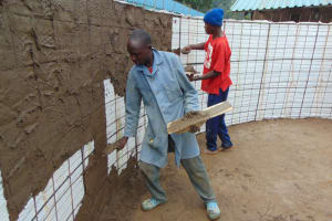 The Water Project: Gidimo Primary School -  Interior Plastering