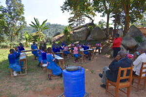 The Water Project: Gidimo Primary School -  Proper Mask Wearing Training