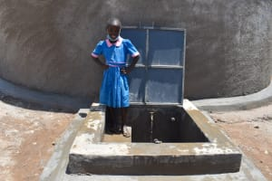 The Water Project: Gidimo Primary School -  Sharon At The Rain Tank