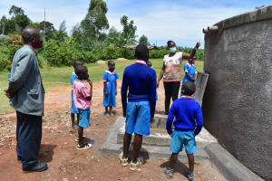 The Water Project: Gidimo Primary School -  Learning About The Rain Tank