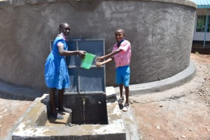 The Water Project: Gidimo Primary School -  Offering A Clean Drink Of Water