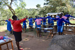 The Water Project: Gidimo Primary School -  Physical Distancing Check