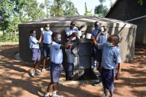 The Water Project: St. Martin's Primary School -  Boys Give A Cheers To Clean Water