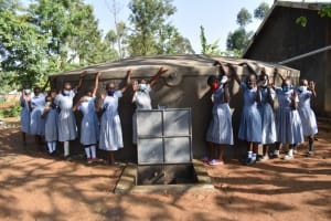 The Water Project: St. Martin's Primary School -  Girls Posing At The Water Source