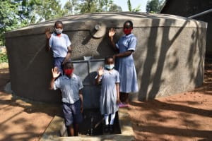 The Water Project: St. Martin's Primary School -  Waving In Thanks