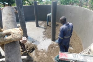 The Water Project: St. Martin's Primary School -  Pillar And Floor Plastering