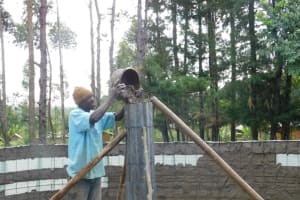 The Water Project: St. Martin's Primary School -  Pillar Construction