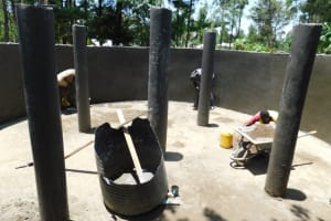 The Water Project: St. Martin's Primary School -  Pillar Plaster