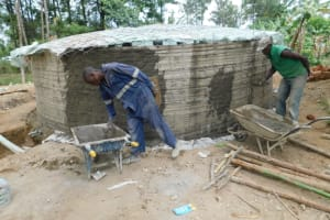 The Water Project: St. Martin's Primary School -  Outside Walls Plastering