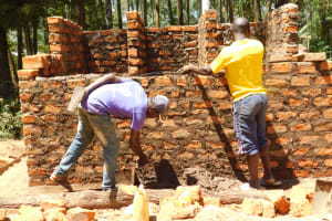The Water Project: St. Martin's Primary School -  Latrine Wall Construction