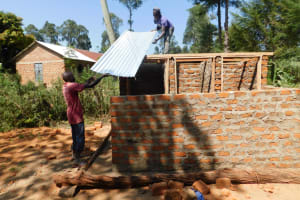 The Water Project: St. Martin's Primary School -  Latrine Roofing