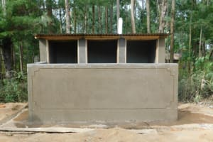 The Water Project: St. Martin's Primary School -  Plastered Vip Latrine
