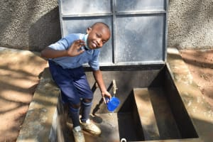 The Water Project: St. Martin's Primary School -  John Excited To Access Clean Water