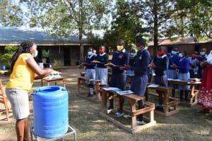 The Water Project: St. Martin's Primary School -  Demonstration On Handwashing