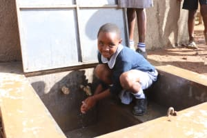 The Water Project: St. Martin's Primary School -  Happy Faces At The Tank