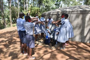 The Water Project: St. Martin's Primary School -  Health Club Members Having Fun At The Rain Tank