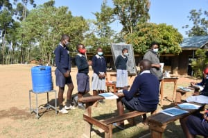 The Water Project: St. Martin's Primary School -  Leaders Appointedd To Lead The Student Health Club