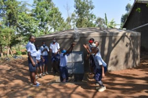 The Water Project: St. Martin's Primary School -  Pupils Playing With Water In Celebration