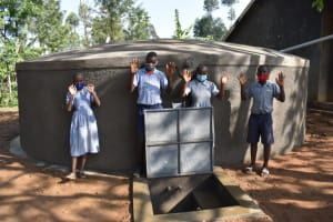 The Water Project: St. Martin's Primary School -  Pupils Posing At The Water Source