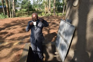 The Water Project: St. Martin's Primary School -  School Headteacher Happy To Access Clean And Safe Water