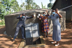 The Water Project: St. Martin's Primary School -  Teachers Celebrating At The Water Point