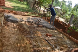 The Water Project: Jimarani Primary School -  Setting Latrine Foundation