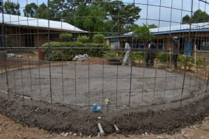 The Water Project: Jimarani Primary School -  Slab Laying And Setting The Wall Frame In Place