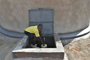 The Water Project: Jimarani Primary School -  Fetching Water