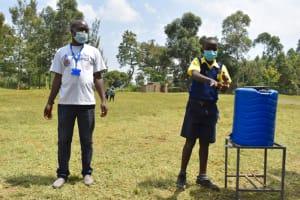 The Water Project: Jimarani Primary School -  Practical Demonstration On Handwashing