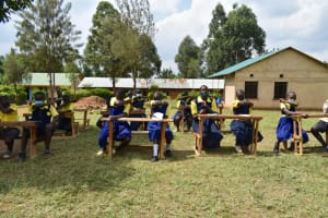 The Water Project: Jimarani Primary School -  Elbow Sneeze Demonstration
