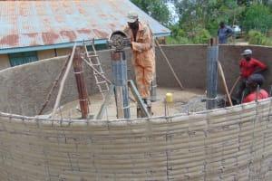 The Water Project: Kitambazi Primary School -  Building The Pillars