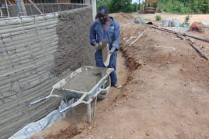 The Water Project: Kitambazi Primary School -  Plastering Outside