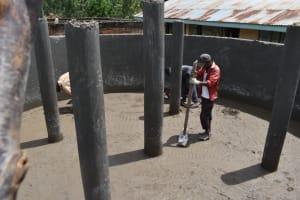 The Water Project: Kitambazi Primary School -  Setting The Floor