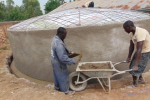 The Water Project: Kitambazi Primary School -  Roughcasting