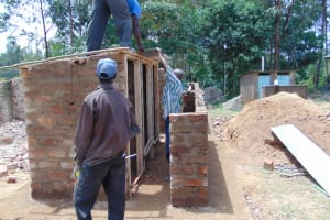 The Water Project: Kitambazi Primary School -  Roofing The Latrines