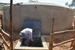 The Water Project: Kitambazi Primary School -  A Teacher At The Waterpoint