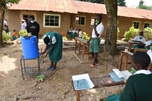 The Water Project: Kitambazi Primary School -  Students Demonstrate Handwashing