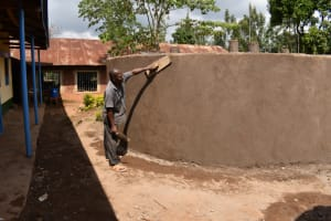 The Water Project: Friends Musiri Primary School -  Outside Plastering