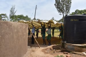The Water Project: Friends Musiri Primary School -  Lifting The Dome Frame