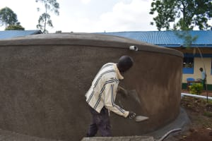 The Water Project: Friends Musiri Primary School -  Wall Roughcasting