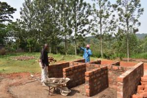 The Water Project: Friends Musiri Primary School -  Latrine Brickwork