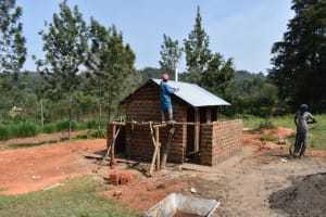 The Water Project: Friends Musiri Primary School -  Roofing The Latrine