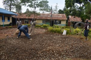 The Water Project: Friends Musiri Primary School -  Community Members Help Lay The Foundation