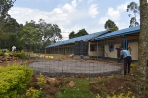 The Water Project: Friends Musiri Primary School -  Wire Wall Setting