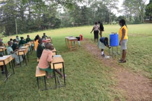The Water Project: Friends Musiri Primary School -  A Pupil Shows Handwashing